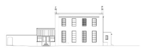 Front elevation of architectural project