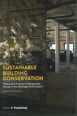 Sustainable Building Conservation book cover